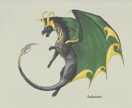 Loki Dragon by Imbecamiel