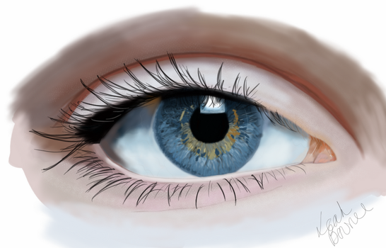 Eye Digital Painting by bad-ass