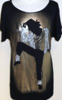 Michael Jackson T-shirt by ajacqmain