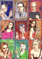 Buffy sketch cards by ccicconi
