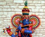 Paper Quilled 3D Lord Krishna-Upper part view by VaishaliRastogi