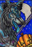 Halloween Night ACEO by Rianne2k8