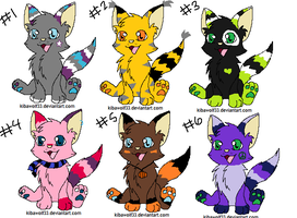 cat adoptables batch CLOSED by AmazingAdoptablez