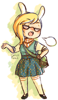 Hipster Time + Fionna by Rabu-rii