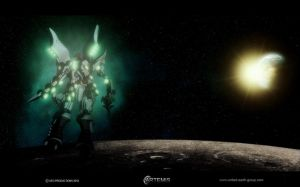 The Nylos over the Moon by UEGProductions
