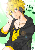 Len Kagamine .:LINEART:. by AngelicDemon82