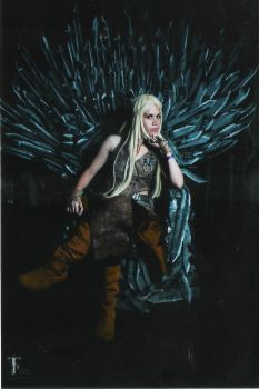 With the iron throne by astridaol