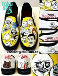Rage Comic Shoes - Yellow by artsyfartsyness