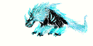 .: Blue Flamed Beast :. by PrideAlchemist7