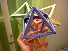Four Intersecting Octahedra+Tetrahedron by musicmixer112