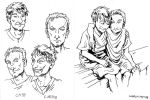Cato the Younger and Caepio by Xzaren