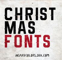 Christmas fonts by Inspirecolors