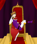 The king on his throne by Carinaconstellation