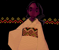 African Kimono by turnipsss