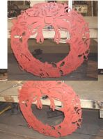 Steel Christmas wreath by BROKENHILL