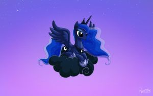 Luna on a Cloud 16:10 by mysticalpha