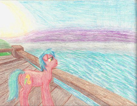 Gazing at the Sea by RedHoofsketch