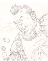 Borderlands 2: Salvador sketch by NMRosario