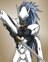 Blazblue - Hakumen by Wyvern07