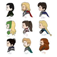 Thor Chibi Busts by labrathor