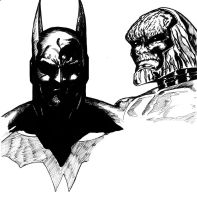 BATMAN AND DARKSEID by Mich974