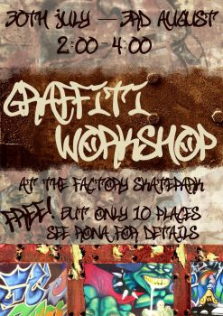 Graffiti Workshop Poster by Whifling