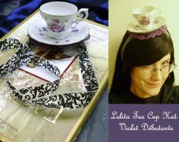 Tea Cup Hat- Violet Debutante by pervyyaoifancier