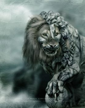 Stone Lion by CindysArt