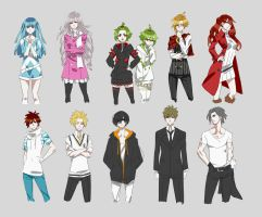 VN project | cast concept by Jakuu