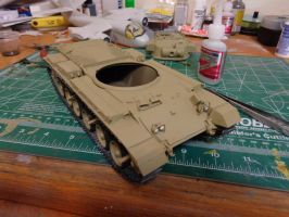 AFV Club 1/35 IDF Shot Kal Golan heights 1973 tank by Deamand