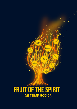 Flaming Fruits of the Spirit Tree by tylerneyens