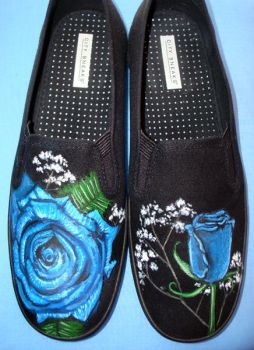 Blue Rose Shoes by sheratosh