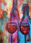 Red Red Wine by KeriPhillipsArt