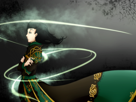 Loki-The Asgardian Magician by Kutori