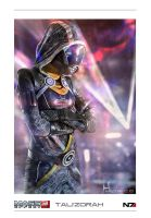 Tali'Zorah poster by kigents