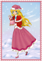 Peach's Winter Greetings by MelonCandies