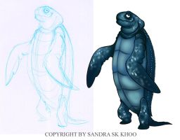Leatherback Character Design by Sandora