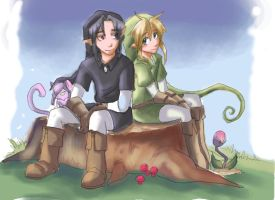 link and dark link color by Arkel-chan