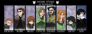Stark Family Portrait by Fergtron