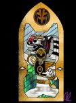 Stained Glass - White Ranger MM by LavenderRanger
