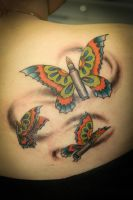 bullet with butterfly wings by mange