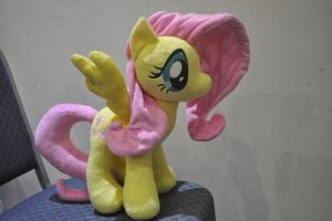 Fluttershy Plushie for Ponycon Au 2014 Melbourne by SnuggleFactory