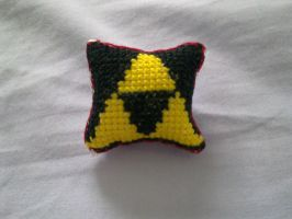 Triforce mini pillow~ front by FullmetalDemigod