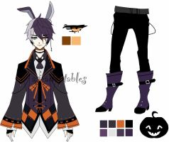 Halloween bunny adoptable CLOSED by AS-Adoptables