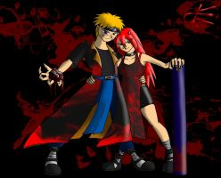 20140810 - Naruto and Tayuya by Dustin-The-Grimm