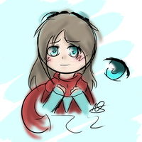 Painted-Doodle- Cyan Soft by chichimi