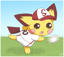 Sparks the outfielder by pichu90