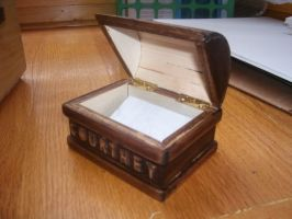 Miniature Wooden Chest by Sawdust013