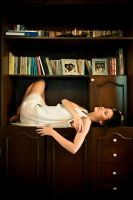 .library girl by caspell