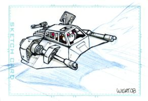 Snowspeeder sketchcard by joewight